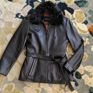 Wilson's Leather Pelle Studio Leather Coat